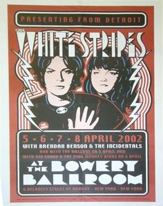 alternative-imagery: Cool Concert Poster: The White Stripes …. Via tumblr