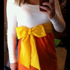Adult Candy Corn shirt/dress (use a tee or tank for the top!)