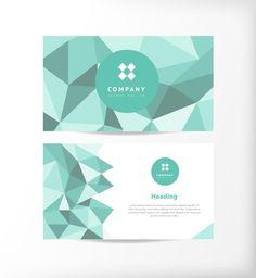 vector image Abstract Polygon Business Card 03 Vector Design