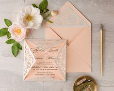 WEDDING INVITATIONS lasercut/engraved 12/LcutG/z