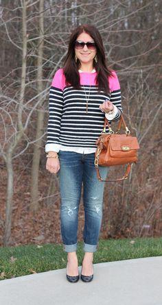 Gap Colorblock Stripe Sweater
