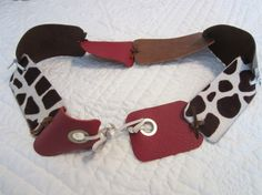 Hey, I found this really awesome Etsy listing at https://www.etsy.com/listing/168380952/barn-red-knotted-leather-belt-with