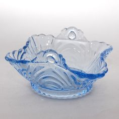 Vintage Cambridge Glass Moonlight Blue Caprice Square by Abundancy