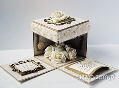 Exploding Box Card, Paper Boxes, Box Design, Decorative Boxes, Scrapbooking, 3d, Crates, Scrapbooks, Decorative Storage Boxes