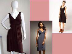 Ella Moss Net A Porter Melody Sexy Deep V Goddess Stretch Jersey Dress $228 L | eBay