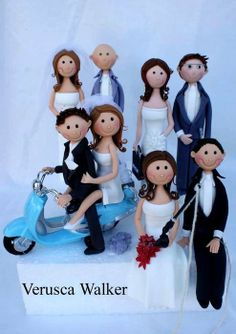 Cake toppers bride and groom - by Verusca Walker @ CakesDecor.com - cake decorating website