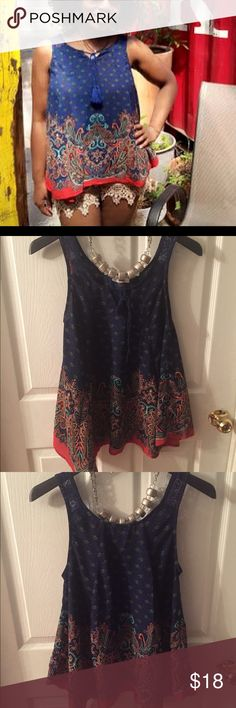 Sleeveless top, cute! Cute sleeveless top, excellent Used Condition Tops