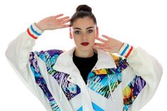 90s Neon Windbreaker Ski Jacket 80s Vintage by neonthreadsdesigns, $70.00