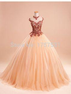 Querida apliques De tule vestido De baile elegante vestido De Quinceanera Vestidos De Pageant vestido