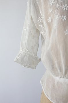 1900s Blouse / Antique White Cotton Top by 86Vintage86 on Etsy, $168.00