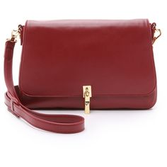 Elizabeth and James Cynnie Mini Cross Body Bag ($400) ❤ liked on Polyvore featuring bags, handbags, shoulder bags, adzuki bean, leather shoulder bag, genuine leather handbags, red leather handbag, leather handbags and leather crossbody purse