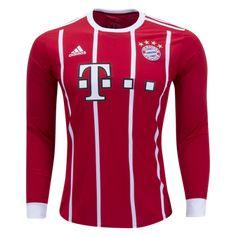 7d657eeaa 17-18 Bayern Munich Home Long Sleeve Jersey Shirt Soccer Cleats