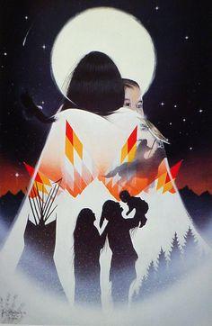 Jimmy Yellowhawk kK Native American Paintings, Native American Pictures, Native American Artists, Native American Indians, Native American Drawing, Arte Elemental, Shadow Art, American Indian Art, Native Art