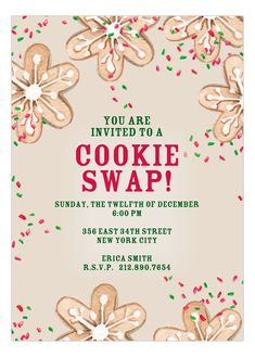 Cookie Swap Christmas Invitation