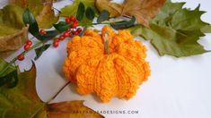 Tunisian Crochet Puffy Pumpkin • RaffamusaDesigns Crochet Pumpkin Pattern, Tunisian Crochet Patterns, Crochet Cow, Crochet Elephant, Crochet Fall, Love Crochet, Learn To Crochet, Crochet Crafts, Pumpkin Patterns