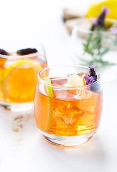 Happy hour has officially started with this refreshing Garden Tea Cocktail. It's made with unsweet tea, vodka, rum and a simple syrup.
