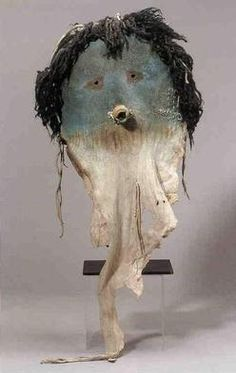 Mask; Navajo, Yeibichai Dancer, Hide/Gourd/Animal Hair, 32 inch.