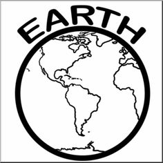 Clip Art Planets Earth BW