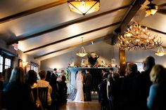 Megan & Paul Ceremony at Bow Valley Ranche - Jamie Hyatt Photography http://www.jamiehyatt.com/