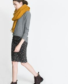 Image 3 of SKIRT WITH SMALL FLORAL PRINT from Zara