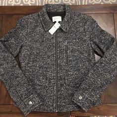 LOFT black and white jacket Black and white jacket.  Exterior 50% wool, 43% cotton, 7% nylon. Lining 100% polyester. LOFT Jackets & Coats