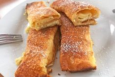 Topfenpalatschinken - Rezept French Toast, Breakfast, Desserts, Food, Food Portions, Food Food, Recipies, Morning Coffee, Postres