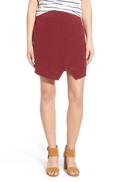 Madewell 'Parkway' Silk Skirt available at #Nordstrom