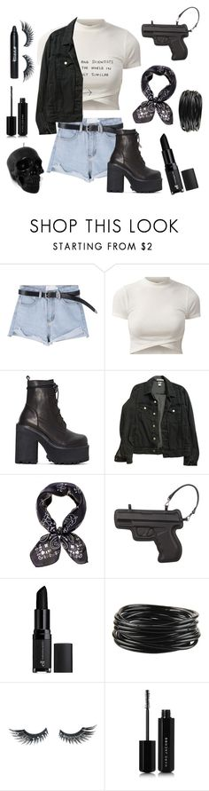 """""""Carry on wayward Son 🤘🏻"""" by violenceinsilence ❤ liked on Polyvore featuring UNIF, American Apparel, Black, Vlieger & Vandam, e.l.f., Forever 21, Napoleon Perdis, Killstar and Marc Jacobs"""