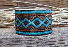 .Southwestern Beaded Cuff Bracelet 2436