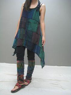 Patch dress, ThaiTee, via Etsy.