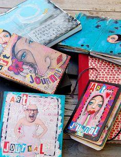 Art Journaling by Marieke Jongenelen-Blokland.  Another great @shaunaleelange curation.