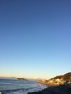 Mt. Fuji and Enoshima, from Inamuragasaki, Kamakura.