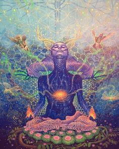 Chakras illustration - www. Meditation Art, Yoga Art, Sacred Geometry Art, Sacred Art, Art And Illustration, Kaleidoscope Art, Art Inspo, Art Visionnaire, Psychadelic Art