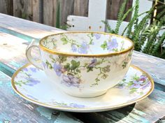 Vintage Limoges Haviland Teacup Antique Made In France CH Field China Epsteam. $32.00, via Etsy.