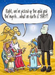 Funny three wise men Bible cartoon