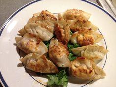 Homemade pork pan-seared dumplings. Super easy recipe. If people want ...