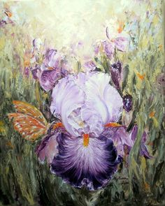 Oil On Canvas, Iris, Painting, Painted Canvas, Irises, Painting Art, Paintings, Oil Paintings