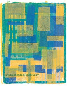Randomness from Unbored Hands Blog! My Gelli is....