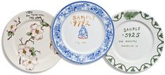 Sample plates from the historic Syracuse China Corp! Great write up on our collection in the NYTimes!