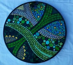 Green under and over lazy susan by Glenys Fentiman