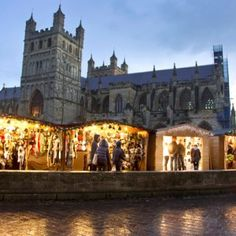While Exeter Cathedral Christmas Market is one of the newest in the UK, it still manages to be both intimate and atmospheric. Read all about it and plan your trip at Red Online. Exeter England, Exeter Cathedral, Exeter City, Christmas In England, England Countryside, Devon And Cornwall, Birmingham Uk, Comfort And Joy, Plan Your Trip