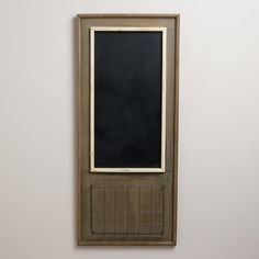 Chalkboard with Wire Basket | World Market