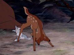 Disney Animals We Really Want to Cuddle: Bambi and Thumper Disney Pixar, Bambi Disney, Old Disney, Arte Disney, Disney Marvel, Disney Films, Disney Cartoons, Disney Love, Disney Animation