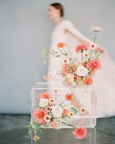 bright coral flower inspiration, beautiful floral arrangement, white light pink flowers, bouquet of light pink and white flowers Wedding Paper, Floral Wedding, Wedding Colors, Wedding Bouquets, Wedding Flowers, Wedding Floral Arrangements, Peach Wedding Theme, Wedding Art, Deco Floral