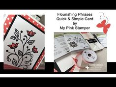 Stampin' Up! Flourishing Phrases Quick & Simple Hello Card- Episode 505 - YouTube