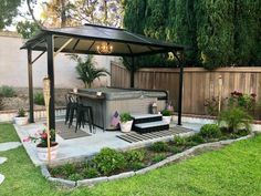 As we head into summer, make yourself an easy and affordable outdoor bar area! Whether its placed against your hot tub like ours, or just an extra space for foo… Hot Tub Gazebo, Hot Tub Garden, Hot Tub Backyard, Backyard Patio, Backyard Landscaping, Diy Outdoor Bar, Jacuzzi Outdoor, Outdoor Living, Outdoor Hot Tubs