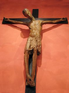 Crucifix from Middle Ages at the Church of Sant'Ambrogio in Rome