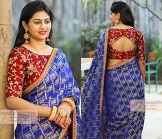 blouse designs latest Want to shop super gorgeous party wear sarees of Do check out this brands collection. Cotton Saree Blouse Designs, Fancy Blouse Designs, Bridal Blouse Designs, Stylish Blouse Design, Designer Blouse Patterns, Party Wear Sarees, Shop, Blouses, Check