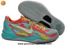 Cheap 555035 002 Tropical Twist tiff blue Cool Grey Orange Yellow Nike Zoom Kobe 8