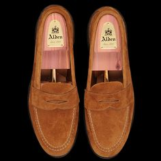 9129739e343 UNIONMADE - Alden - Unlined Flex Penny Loafer in Snuff Suede 6243F  Gentleman Shoes
